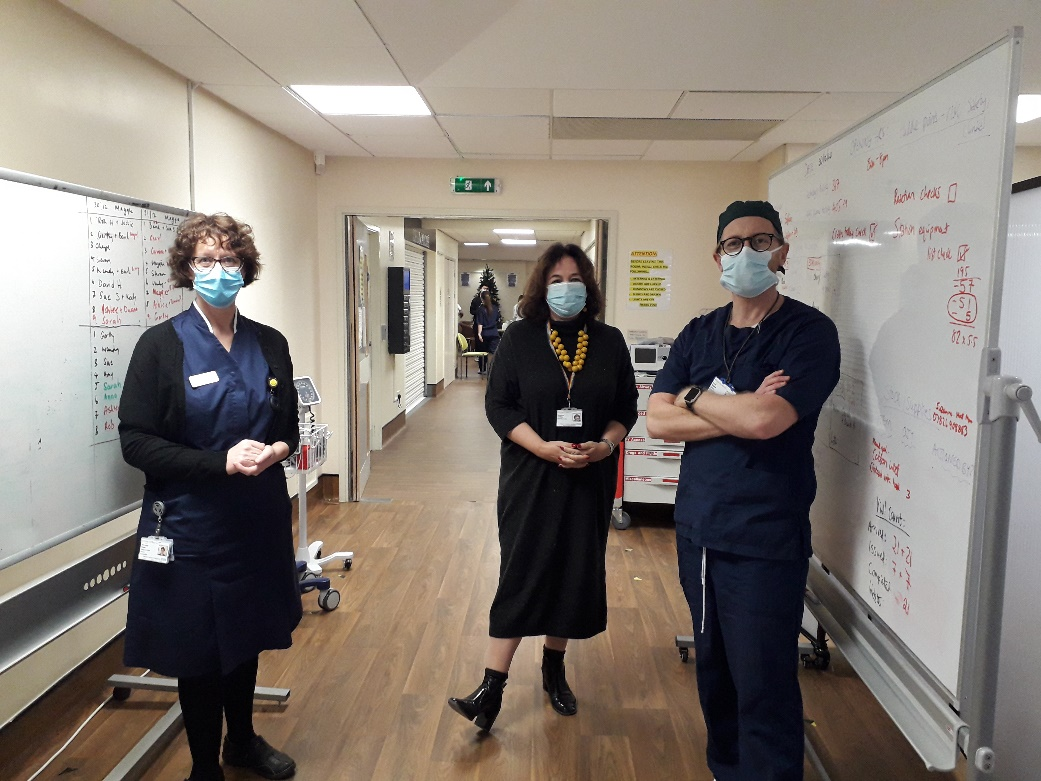 Staff at vaccination hub in Worthing